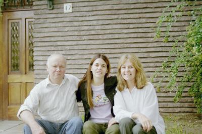 Con mis padres en Bernal- Silvia